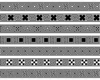 Ampio elemento della struttura dei modelli ansient differenti di meandro Fotografia Stock Libera da Diritti