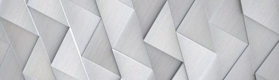 Ampio fondo di alluminio di Ciao-tecnologia & x28; Sito Head& x29; - illustrazione 3D Immagine Stock Libera da Diritti