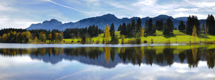 Ampio paesaggio di panorama in Baviera Immagine Stock