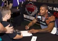 Ampio ricevitore Kerry Reed di AFL Arizona Rattlers Fotografie Stock