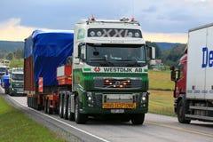 Ampio trasporto del camion del carico Fotografia Stock Libera da Diritti