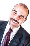 Ampio uomo d'affari di sorriso fotografie stock libere da diritti
