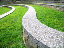 Ampitheater. Terraced step seating in the ampitheater at Causland Memorial Park, Anacortes, Washington state royalty free stock images