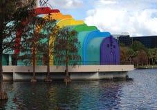 Ampitheater en el lago Eola, Orlando, la Florida Foto de archivo