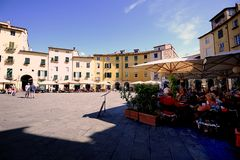 The Ampitheater of Lucca Stock Images