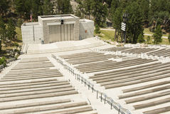 Ampitheater at Mount Rushmore. View of the ampitheater at Mount Rushmore national memorial Stock Image
