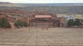 Ampitheater rojo de la roca Fotos de archivo