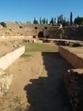 Ampitheater romano en Mérida, España Imágenes de archivo libres de regalías