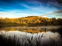 Ampleforth Lake in Autumn. stock image