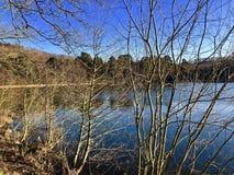 Ampleforth Lake, Yorkshire. Stock Image