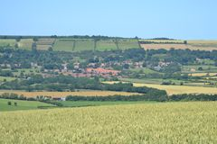 Ampleforth Valley, England royalty free stock image