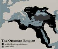 Ampleur d'empire de tabouret de la Turquie la plus grande illustration libre de droits