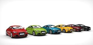 Amplia gama del color - coches Imagenes de archivo