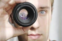 Ampliación del ojo Foto de archivo libre de regalías