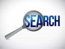 amplie a ilustração da mensagem da busca imagens de stock