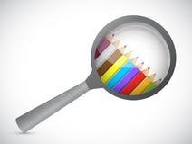 amplie o vidro e as cores para dentro Ilustração Imagem de Stock