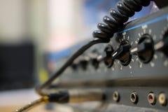 Amplificador aux. Fotografía de archivo libre de regalías