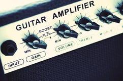 Amplificador de la guitarra Fotos de archivo libres de regalías