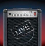 Amplificador de la guitarra Imagen de archivo libre de regalías