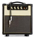 Amplificador de la guitarra del vintage fotografía de archivo