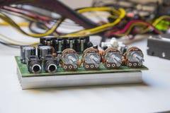 Amplificador de la placa madre imagen de archivo