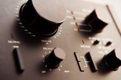 Amplificador de transistor velho fotografia de stock