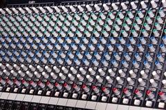 Amplificador do misturador da música Foto de Stock