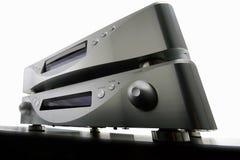 Amplificador e cd-jogador imagem de stock
