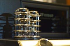 Amplificador eletrônico audio Audiophile do tubo de vácuo fotografia de stock