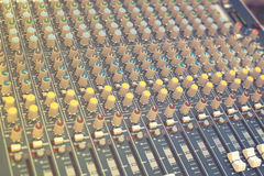 Amplificador profissional para o equipamento de som, efeito do vintage Imagem de Stock
