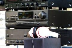 Amplificadores audio velhos, já não produzidos foto de stock royalty free