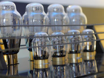 Amplificadores audiophile da lâmpada de alta fidelidade imagens de stock