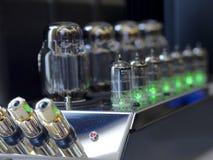 Amplificadores audiophile da lâmpada de alta fidelidade fotos de stock royalty free