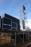 Amplificadores, oradores e equipamento audio da fase imagens de stock