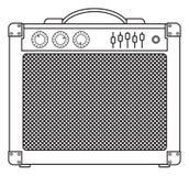 Amplificateur classique de guitare Photographie stock