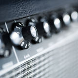 Amplificateur de guitare de bouton de volume Photographie stock libre de droits