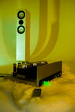 Amplificateur sain de haute fidélité photographie stock libre de droits