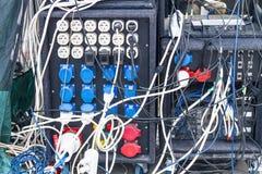 Amplificateurs et câbles de correction Photo stock