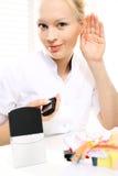 Amplificatore audio per i portatori di handicap uditivo immagini stock
