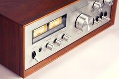 Amplificatore audio stereo d'annata Fotografia Stock