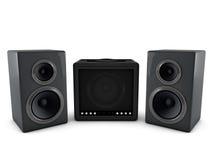 amplificatore 3d ed altoparlante Immagini Stock Libere da Diritti