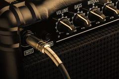 Amplificatore del basso elettrico Fotografia Stock