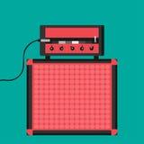 Amplificatore della chitarra di vettore Fotografia Stock Libera da Diritti