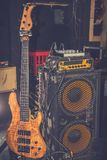 Amplificatore della chitarra elettrica fotografia stock libera da diritti