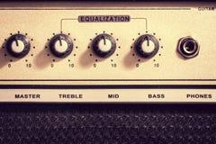 Amplificatore della chitarra elettrica Immagine Stock