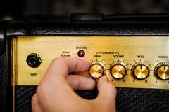 Amplificatore elettrico della chitarra Priorità bassa di musica rock immagine stock libera da diritti