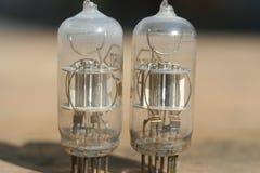 Amplificatore radiofonico della lampada Valvola elettronica elettronica Fotografia Stock