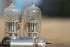 Amplificatore radiofonico della lampada Valvola elettronica elettronica Immagini Stock Libere da Diritti