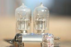Amplificatore radiofonico della lampada Valvola elettronica elettronica Immagine Stock Libera da Diritti