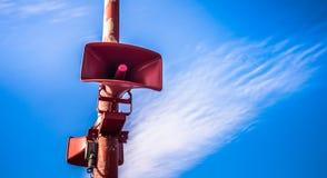 Amplificatore rosso fotografia stock